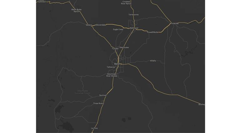 Oregon Map Graphic